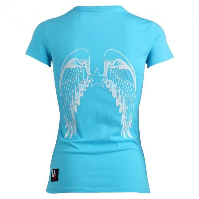 angels logo round neck t shirt t rkis damen women t shirts. Black Bedroom Furniture Sets. Home Design Ideas