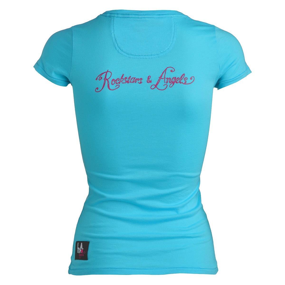 rockstars angels peace love t shirt t rkis damen women t shirts. Black Bedroom Furniture Sets. Home Design Ideas